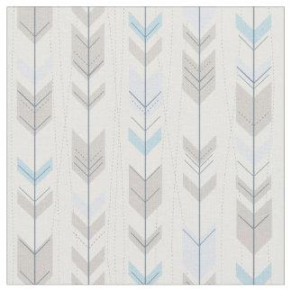 Tecido Teste padrão azul tribal na moda da cauda da seta