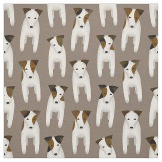 Tecido teste padrão bonito do cão dos terrier de Jack