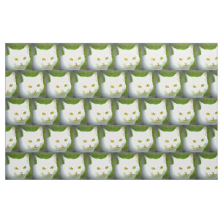 Tecido teste padrão branco do gato