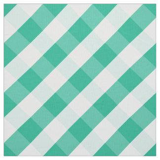 Tecido Teste padrão branco verde simples do guingão de St