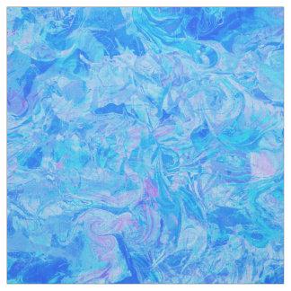 Tecido Teste padrão chique de mármore azul elegante