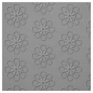 Tecido Teste padrão cinzento bonito do ornamento da flor