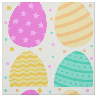 Tecido Teste padrão colorido bonito dos ovos da páscoa