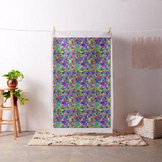 Tecido Teste padrão com flores estilizados ou luzes do