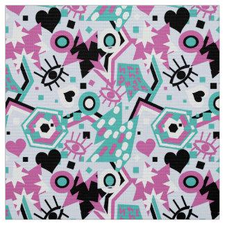 Tecido Teste padrão cor-de-rosa brilhante legal do pop