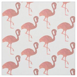 Tecido teste padrão cor-de-rosa do flamingo do ouro