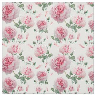 Tecido Teste padrão cor-de-rosa dos rosas do Scatter
