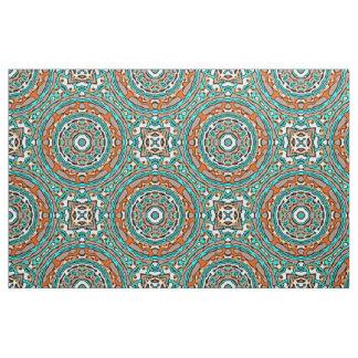 Tecido Teste padrão de mosaico étnico de turquesa