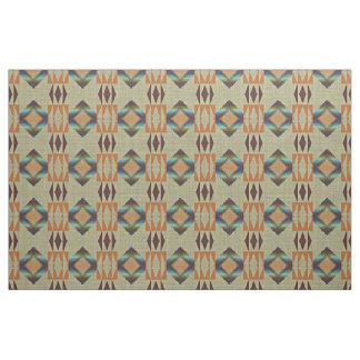 Tecido Teste padrão de mosaico tribal nativo alaranjado