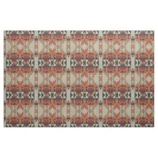 Tecido Teste padrão de mosaico tribal nativo azul