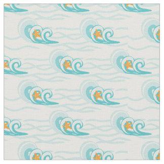 Tecido Teste padrão de ondas macio