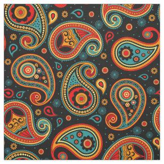 Tecido Teste padrão de Paisley colorido