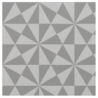 Tecido Teste padrão de prata e cinzento dos triângulos