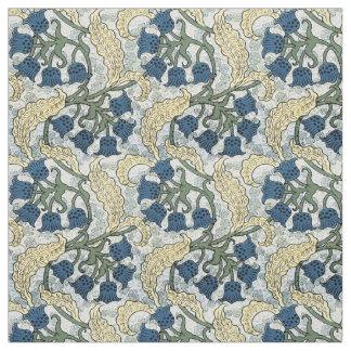 Tecido Teste padrão de repetição floral azul