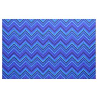 Tecido Teste padrão de ziguezague das listras azuis