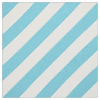 Tecido Teste padrão diagonal azul e branco das listras