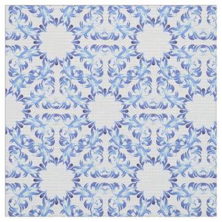 Tecido teste padrão do azul do damasco