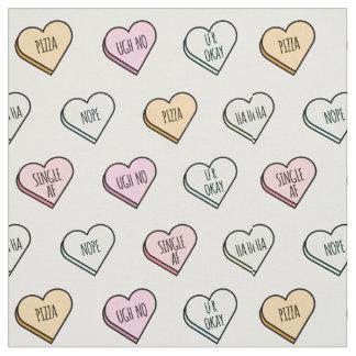 Tecido Teste padrão do coração dos doces dos namorados
