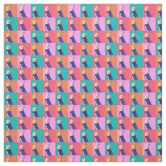 Tecido Teste padrão do pop art do Cockatiel