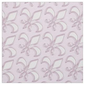 Tecido Teste padrão do roxo real da flor de lis