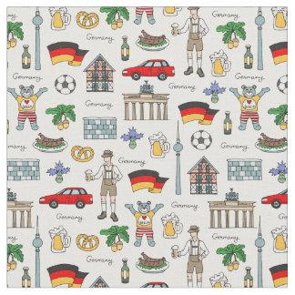 Tecido Teste padrão dos símbolos de Alemanha  