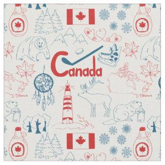 Tecido Teste padrão dos símbolos de Canadá |