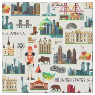 Tecido Teste padrão dos símbolos dos Estados Unidos