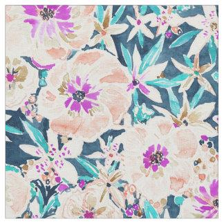 Tecido Teste padrão floral da aguarela do ESPLENDOR