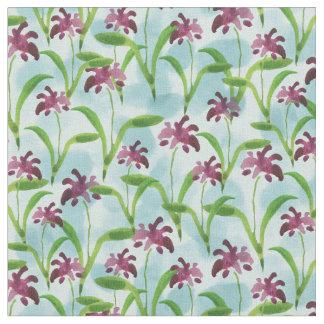 Tecido Teste padrão floral da aguarela roxa