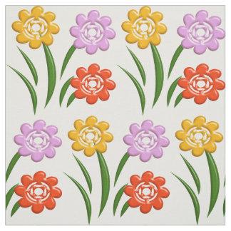 Tecido Teste padrão floral do berçário