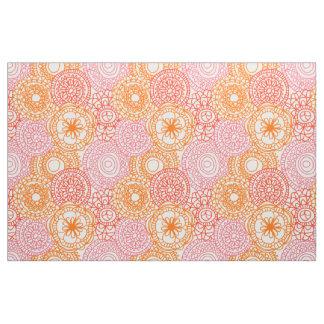 Tecido Teste padrão floral do verão feliz anca retro do