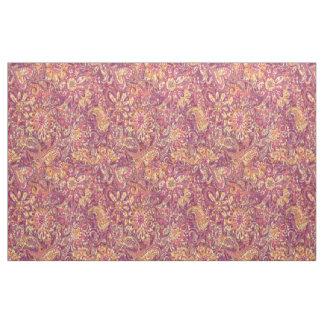 Tecido Teste padrão floral roxo alaranjado cor-de-rosa