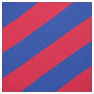 Tecido Teste padrão listrado vermelho e azul