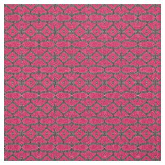 Tecido Teste padrão preto cor-de-rosa bonito