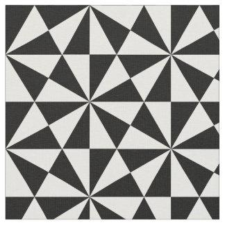 Tecido Teste padrão preto e branco dos triângulos