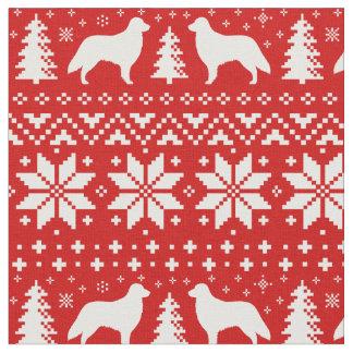 Tecido Teste padrão revestido liso da camisola do Natal
