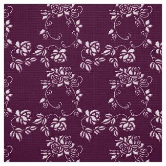 Tecido teste padrão sem emenda roxo floral