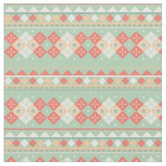 Tecido Teste padrão tribal, cores do sudoeste