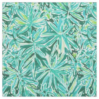 Tecido Teste padrão tropical verde selvagem FRIO das