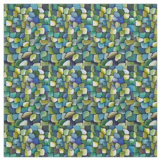 Tecido Teste padrão verde contemporâneo