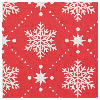 Tecido Teste padrão vermelho e branco clássico do Natal