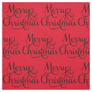 Tecido Texto bonito do roteiro do Feliz Natal