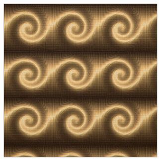 Tecido textura espiral dourada abstrata