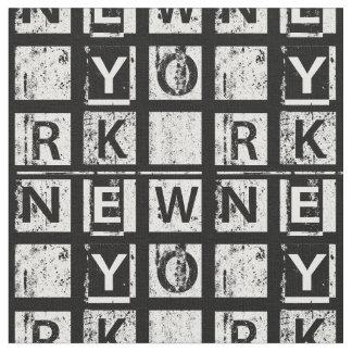 Tecido Tipografia do Grunge de Bronx New York |