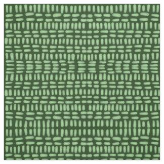 Tecido transversal verde do desenho do portal