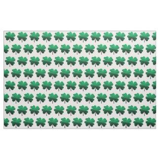 Tecido Trevo da folha do verde quatro do inclinação