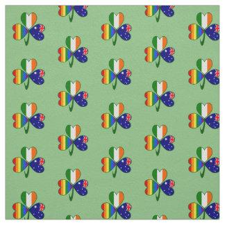 Tecido Trevo irlandês australiano da bandeira do