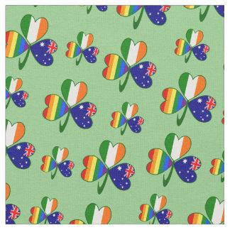 Tecido Trevo irlandês australiano do orgulho gay