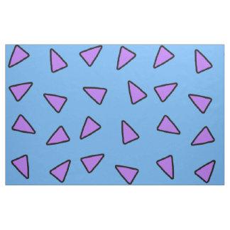 Tecido Triângulos geométricos do estilo de Rocko azuis e