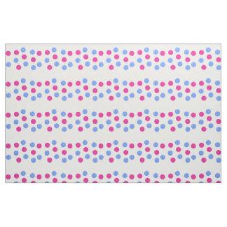 Tecido Turquesa e teste padrão de pontos cor-de-rosa